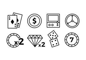 Ícones do Casino vetor