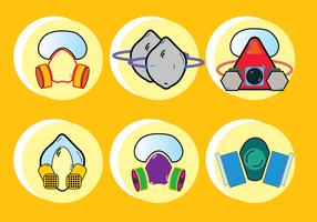 Ícone de máscara de gás químico Respirator para qualquer finalidade vetor
