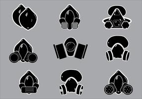 Ilustração simples de vetores de silhueta de respirador
