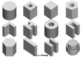 Conjunto de vetores de ícones de viga de construção