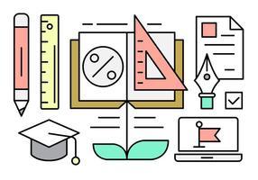 Elementos vetoriais lineares sobre educação vetor