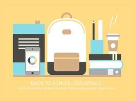 Elementos vetoriais gratuitos de volta para a escola vetor