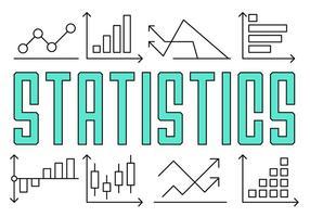 Estatísticas da linha linear grátis vetor