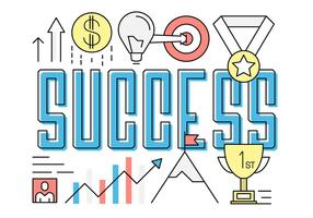 Ícones de sucesso de negócios grátis