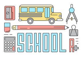 Ícones da Escola Livre vetor