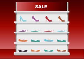 Sapatos femininos exibem vetor livre
