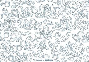 Padrão de cristal de quartzo de linha sem costura vetorial vetor