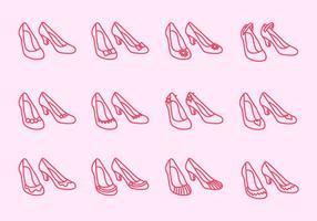 Sapatos de rubi vetor