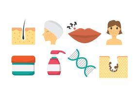 Ícones de dermatologia vetor