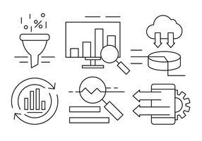 Web e negócios lineares vetor