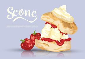Scone Dessert Ilustração vetorial vetor