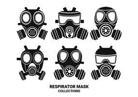 Respirador Silhouette Coleções de vetores