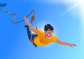 Bungee jumping vetor