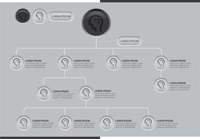 Org chart button style vector