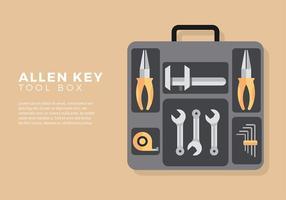 Allen chave ferramenta caixa livre vetor