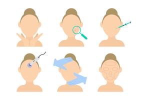 Vector de Dermatologia de Beleza
