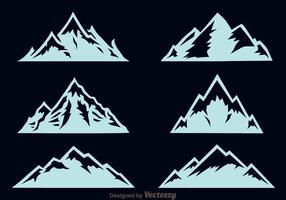 Vetor dos ícones da montanha de Matterhorn