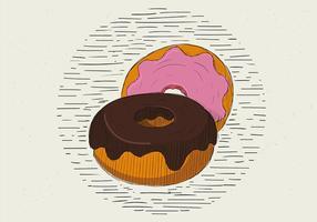 Ilustração livre do donut desenhado mão do vetor