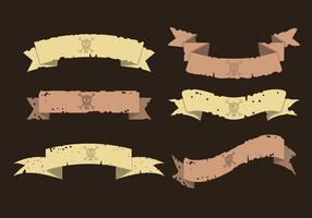 Conjunto de vetores de banner pirata