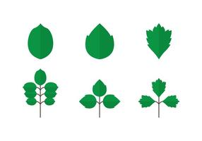 Ícones de Poison Ivy vetor