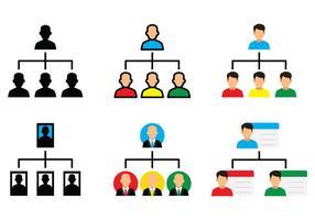 Ícone do gráfico de organização vetor