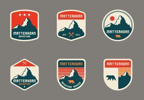 Emblema Vintage Matterhorn vetor