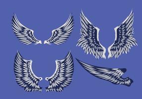 Ilustração vetorial abstrata conjunto de asas vetor