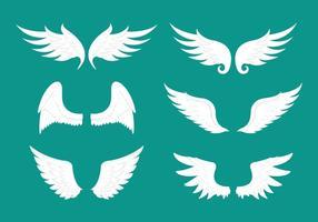 Coleção de itens de vetores de ala de anjo