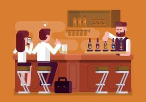 Ilustração da barra de cerveja