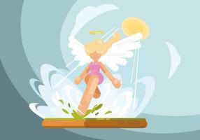 Ilustração das asas do anjo