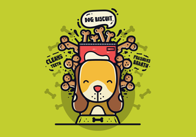 Vetor de biscoito de cachorro grátis