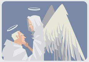 Anjos no vetor de amor