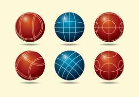 Coleção Bocce Ball vetor