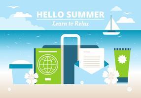 Vetor de design livre tempo de verão fundo