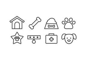 Conjunto de ícones de cães vetor
