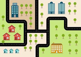 Mapa de estrada simples e simples vetor