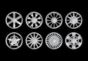 Coleção de vetores de rodas de liga de metal grátis