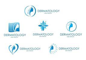 Logotipo moderno de dermatologia vetor