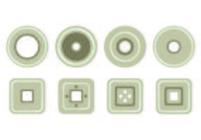 Conjunto de ícones de ilhó