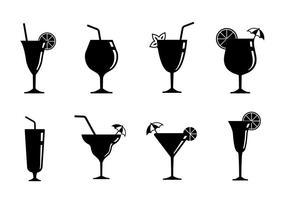Ícones do conjunto Mocktail vetor