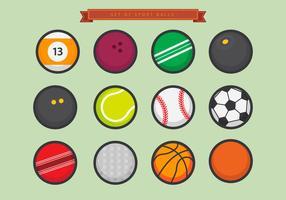Conjunto de esferas de esportes vetoriais vetor