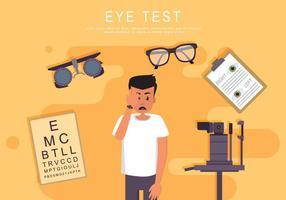 Teste de Olho com Ilustração de Máquina de Verificação de Olhos vetor