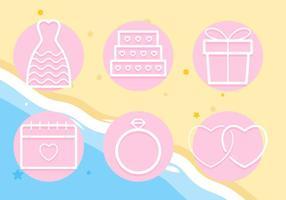 Vetores de casamento de praia exclusivos gratuitos