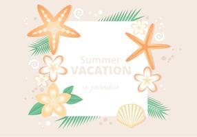 Fundo de verão tropical plano vetor