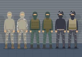 Usmc soldier uniform vector set