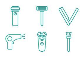Ícone da linha Shaver vetor