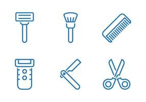 Ícone do equipamento barbeiro vetor