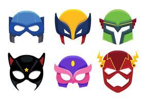 Ícone de máscara de super-herói cartoon vetor