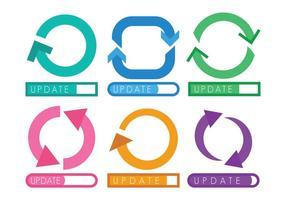 Conjunto de ícones de atualização de ícones vetor