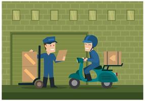 Vector de ilustração de movers grátis